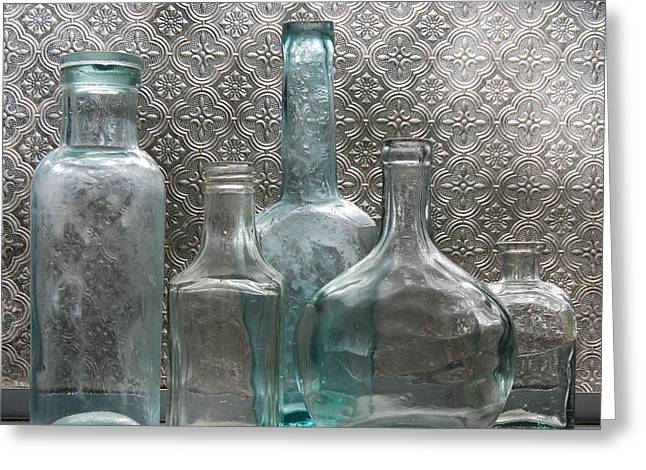 Glass Bottles 1 Greeting Card