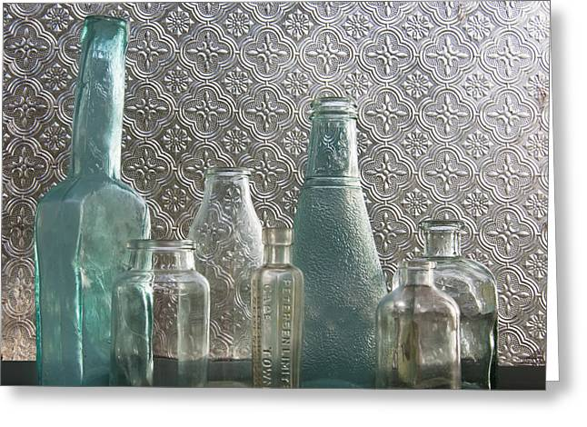 Glass Bottles 2 Greeting Card