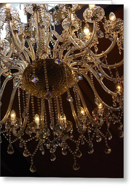 Glass Chandelier Greeting Card