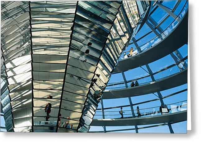 Glass Dome Reichstag Berlin Germany Greeting Card by Panoramic Images