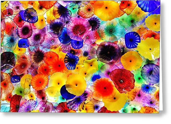 Glass Garden Greeting Card by Benjamin Yeager