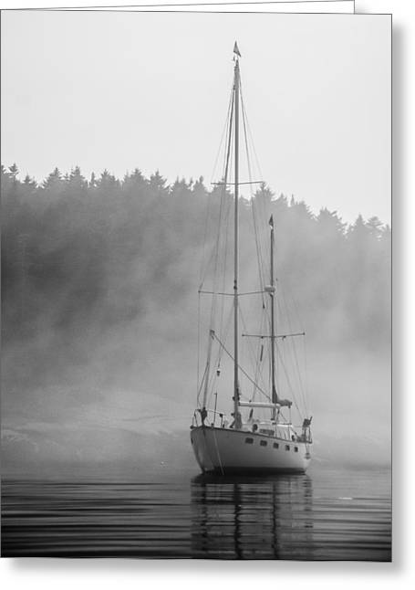 Glass Lady In The Fog Greeting Card