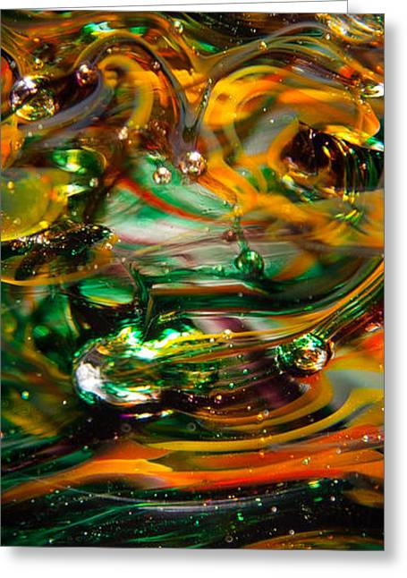 Glass Macro Abstract Ego1 Greeting Card by David Patterson