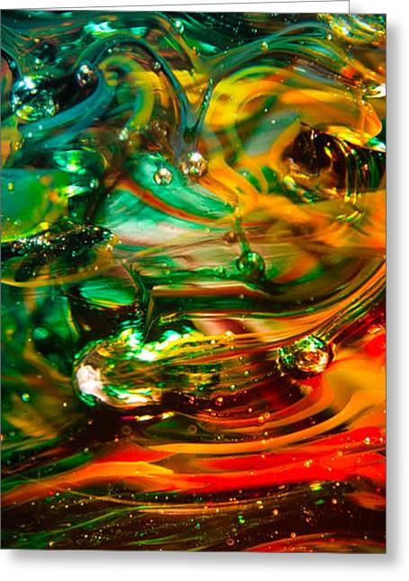 Glass Macro Abstract Ego1ce Greeting Card by David Patterson
