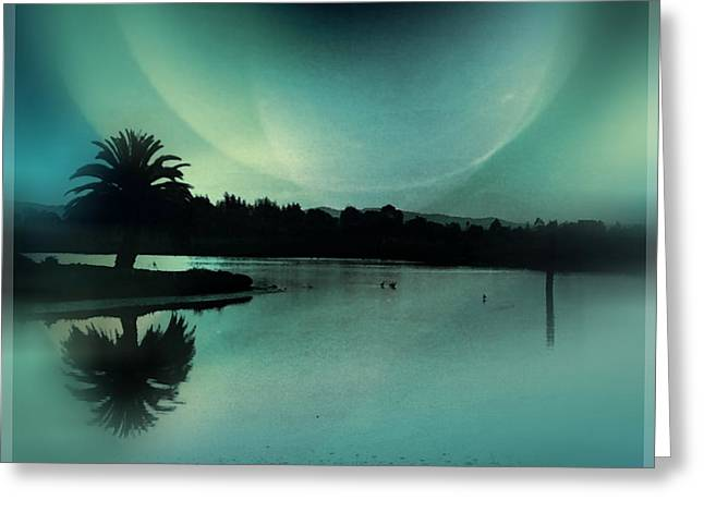Glass Moon Greeting Card