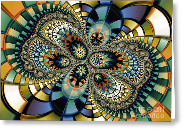 Glass Mosaic-geometric Abstraction Greeting Card