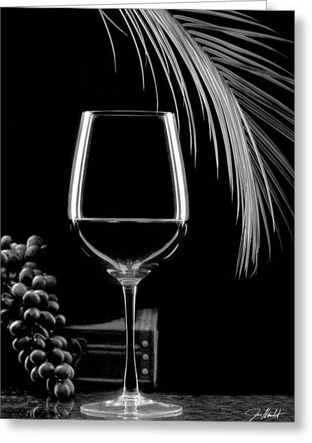 Glass Of Paradise Greeting Card by Jon Neidert
