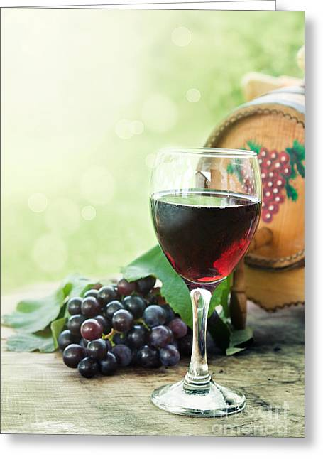 Glass Of Red Wine  Greeting Card