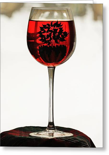 Greeting Card featuring the photograph Glass Of Wine... by Al Fritz