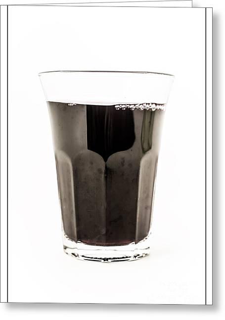 Glass Of Wine Greeting Card by Edward Fielding