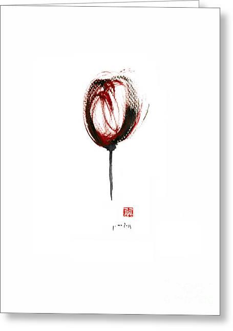 Glass Of Wine Red Purple Black Tulip Flower Burgundy Scarlet Bordeaux Cabernet Watercolors Painting Greeting Card