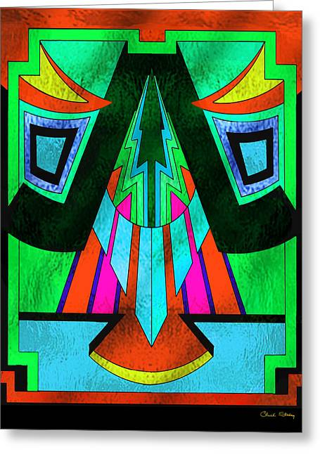 Glass Pattern 5 E Greeting Card by Chuck Staley