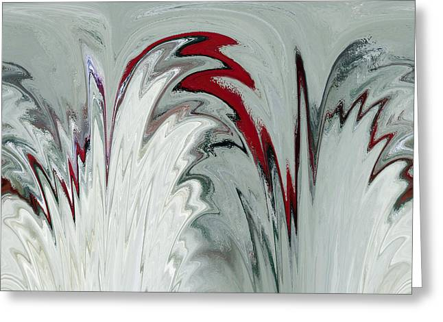 Glass Plumes Greeting Card by Teresa Schomig