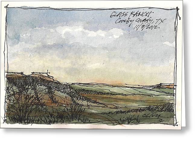 Greeting Card featuring the mixed media Glass Ranch by Tim Oliver