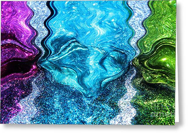 Glass River Greeting Card by Krissy Katsimbras