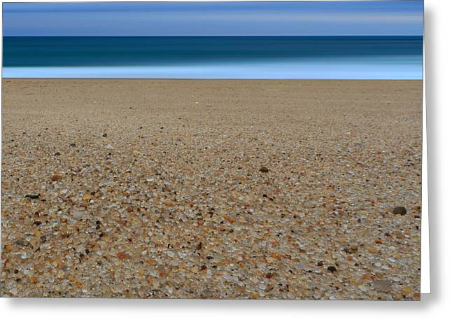 Glass Sand Greeting Card by Katherine Gendreau