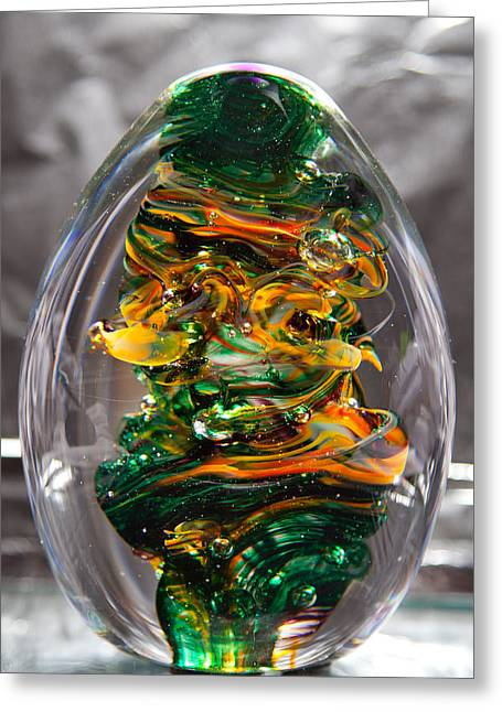 Glass Sculpture Go1  Greeting Card by David Patterson