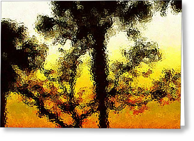 Glass Sunset Greeting Card by Gayle Price Thomas