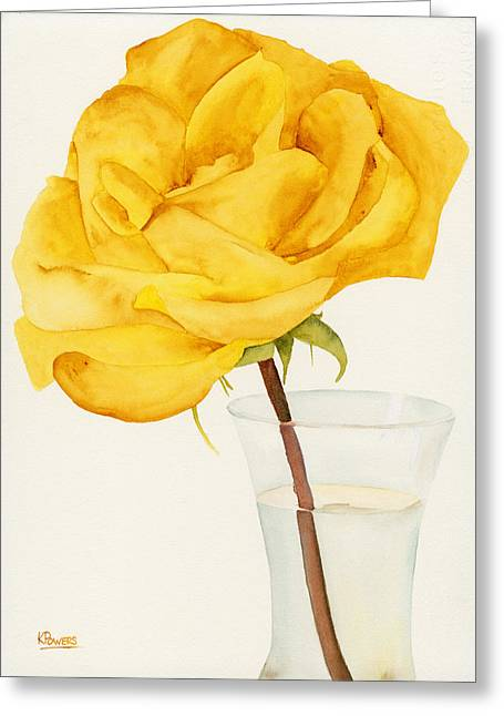 Glass Vase And Rio Samba Greeting Card by Ken Powers
