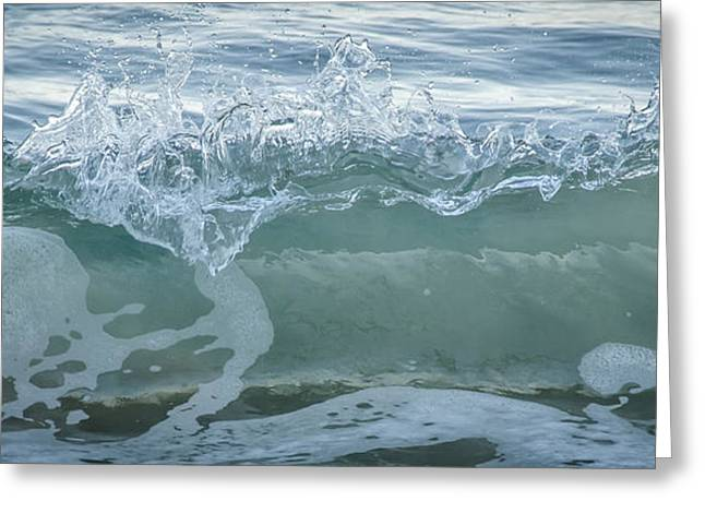 Glass Wave Greeting Card