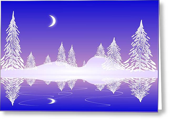 Glass Winter Greeting Card by Anastasiya Malakhova