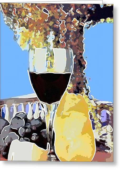 Glass With Red Wine Greeting Card by Tommytechno Sweden