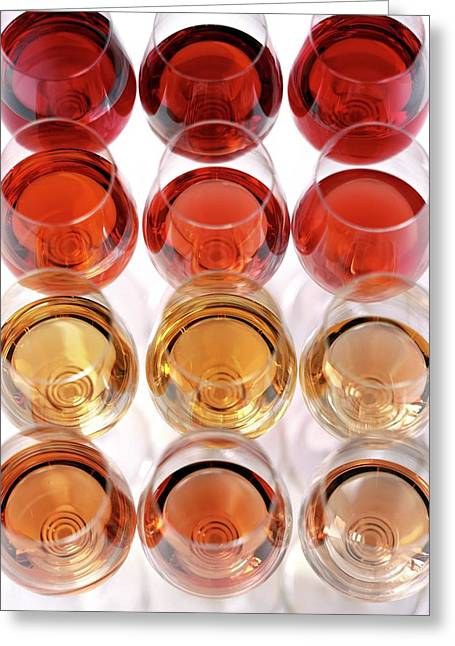Glasses Of Rose Wine Greeting Card