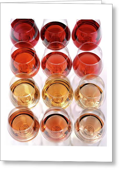 Glasses Of Rose Wine Greeting Card