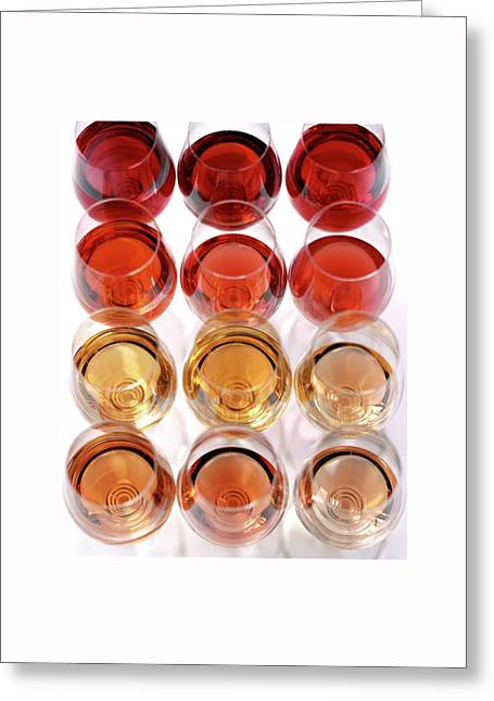Glasses Of Rose Wine Greeting Card by Romulo Yanes