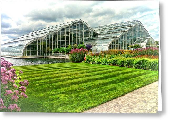 Glasshouse At Wisley Greeting Card
