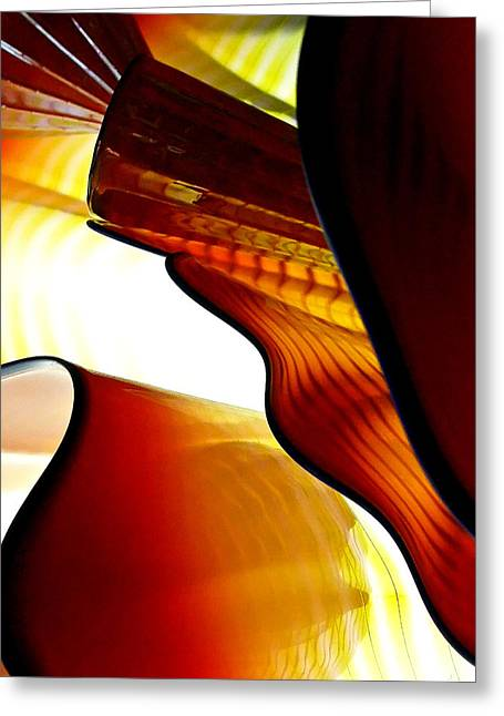 Glassware Abstract Greeting Card