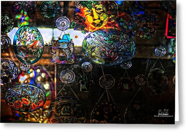 Glassy Colors Greeting Card by Dan Quam