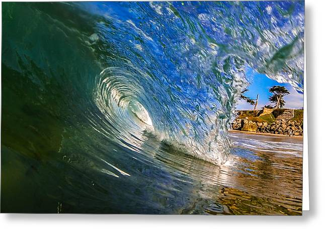 Glassy Perfection Greeting Card by David Alexander