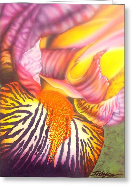 Glavis Iris Greeting Card
