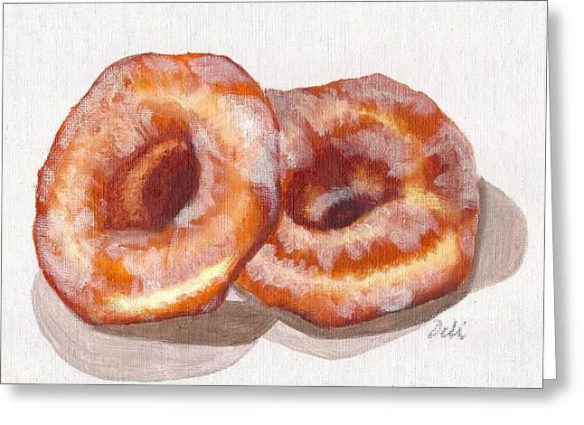Glazed Donuts Greeting Card