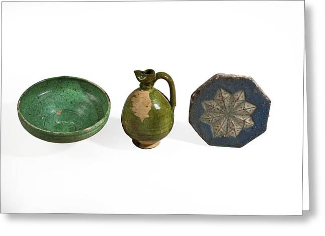 Glazed Terracotta Vessels Greeting Card by Science Photo Library