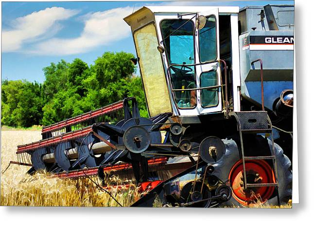 Gleaner F Combine Greeting Card