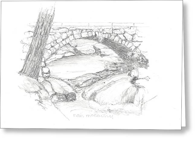 Gleason Falls Bridge Greeting Card by Nan McCarthy