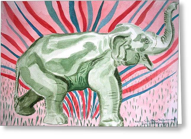 Gleeful Elephant Greeting Card