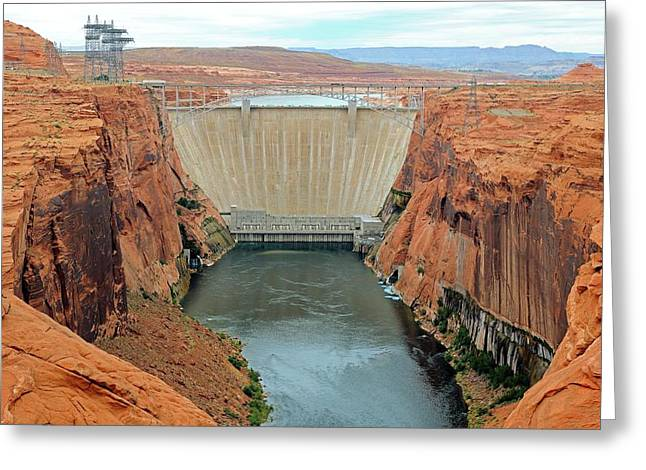 Glen Canyon Dam Greeting Card by Bildagentur-online/mcphoto-schulz
