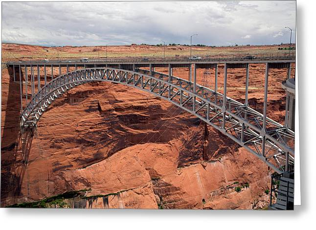 Glen Canyon Dam Bridge Greeting Card by Jim West