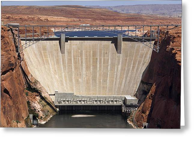 Glen Canyon Dam - Bridge Greeting Card by Mike McGlothlen