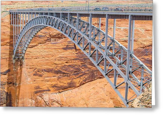 Glen Canyon Dam Bridge Greeting Card