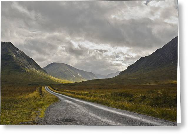 Greeting Card featuring the photograph Glen Etive In The Scottish Highlands by Jane McIlroy