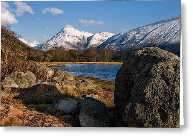 Glen Etive Scotland Greeting Card by Jacqi Elmslie