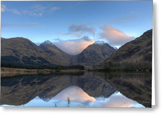 Glen Etive Scotland Greeting Card by Tommy Dickson