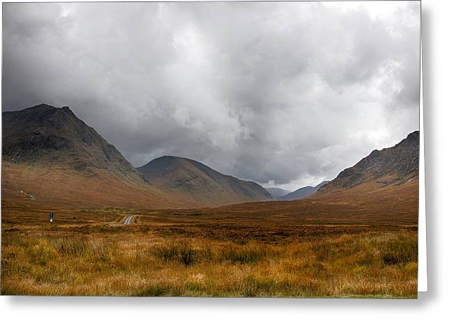 Greeting Card featuring the photograph Glen Etive by Trever Miller