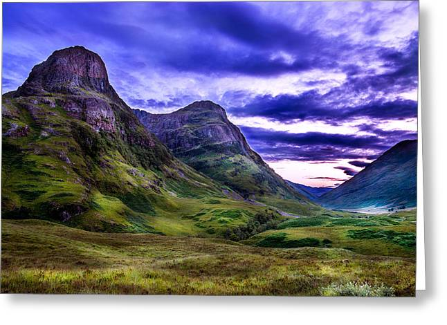 Glencoe Pass Scotland Greeting Card by Niall McWilliam