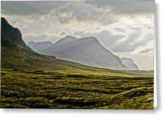 Greeting Card featuring the photograph Glencoe Scotland by Sally Ross
