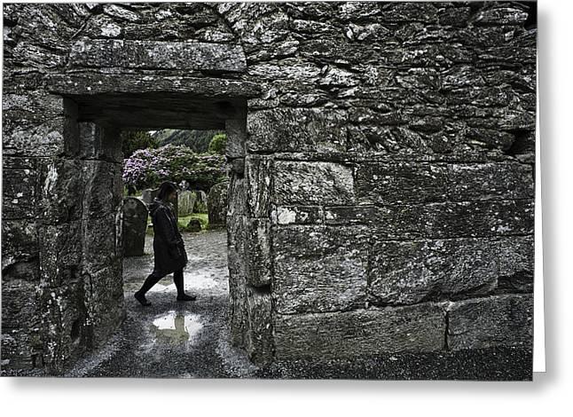 Glendalough Ireland Greeting Card by Sean Weaver
